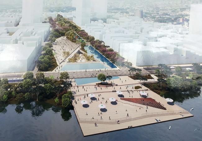 Quảng trường phản ánh hình ảnh một thành phố hiện đại